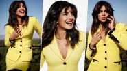 Priyanka Chopra Shines Brighter Than the Sun in a Gorgeous Yellow Blazer and Skirt (View Pics)
