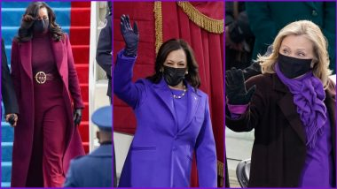 Why Purple on US Inauguration Day? Here's The Symbolism Behind Colour Choice ofKamala Harris, Michelle Obama, Hillary Clinton's Outfits For Joe Biden's Presidential Swearing-in Ceremony