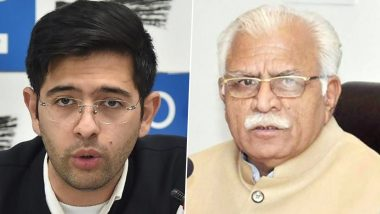 AAP Compares Haryana CM ML Khattar to General Dyer Over 'Tear Gas Shelling on Farmers'