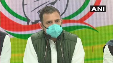 Rahul Gandhi Takes Dig at PM Narendra Modi Over Tika Utsav, Says No Test, No Hospital Bed, No Ventilator, No Oxygen and No Vaccine, Only a Festival Pretence