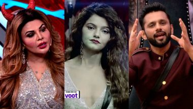 Bigg Boss 14 Weekend Ka Vaar Preview: Rubina Dilaik and Rakhi Sawant Dance on 'Dola Re Dola'; Rahul Vaidya Gets Grilled by the Journalists (Watch Video)