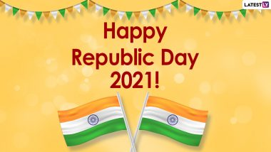 Creative Happy Republic Day 2021 Messages and HD Images: WhatsApp Stickers, Facebook Photos, Patriotic Quotes, Signal Greetings, SMS and Unique Ganatantra Diwas Wishes to Send on 26 January