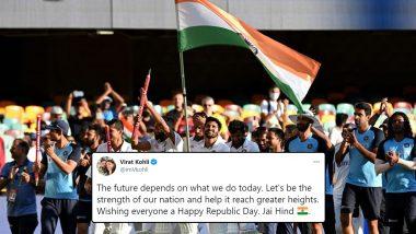 Republic Day 2021 Wishes: Virat Kohli, Sachin Tendulkar Lead Cricket Fraternity's Greetings As India Celebrates 72nd Ganatantra Diwas