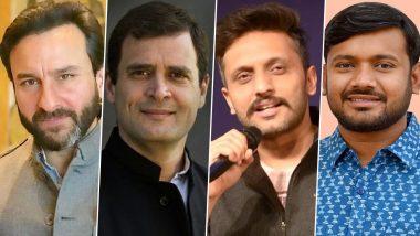Saif Ali Khan's Role Inspired From Rahul Gandhi and Zeeshan Ayyub To Play Kanhaiya Kumar in 'Tandav'?