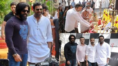 Salaar: Prabhas' Actioner Launched; KGF Star Yash Makes His Presence Felt at the Puja Ceremony (View Pics)