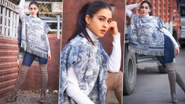 Sara Ali Khan Warms Herself Up This Winter By Opting For Rs 1.50 Lakh Christian Dior 'Fierce' Blanket!