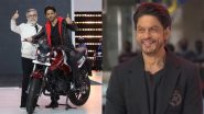 Shah Rukh Khan Exudes Cool and Crisp Vibe in His Classic Black Outfit at a Motorbike Event in Delhi (View Pics)