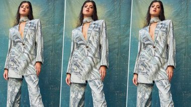 Shanaya Kapoor Is Making a Compelling Case for a Chic Pantsuit 2021 Kinda Mood With a Marbled Number!