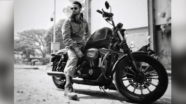 Siddhant Chaturvedi Shares Stylish Monochrome Pic Sitting on His Harley Davidson and Fans Might Just Want a Lift