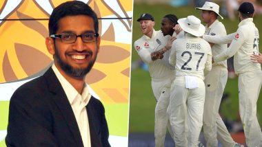 Google CEO Sundar Pichai Welcomes England Cricket Team to His Hometown Chennai, Says 'Should Be a Great Series' (View Post)