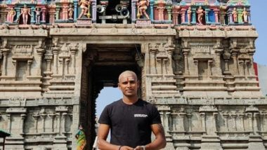 T Natarajan Visits Dhandayuthapani Swamy Temple in Palani, Tonsures Head for Thanksgiving to Lord Murugan