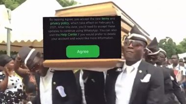 Telegram 'Pays Tribute' to WhatsApp's New Privacy Policy Using Coffin Dance Viral Meme, Messaging App Takes on Its Rival in the Funniest Way (Check Tweets)