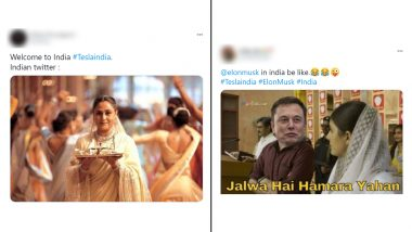 Tesla in India Gets Warm Welcome by Desis in Funny Memes Style! As Elon Musk's Company Starts Operations,NetizensShare Jokes on Traffic Issues