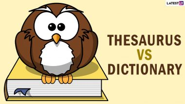 On National Thesaurus Day 2021, Know What is The Difference Between Thesaurus and Dictionary and Improvise Your Vocabulary!