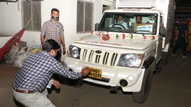 Covishield Vaccine: First Consignment of COVID-19 Vaccine by Serum Institute Arrives in Mumbai From Pune in BMC's Special Vehicle; View Pics