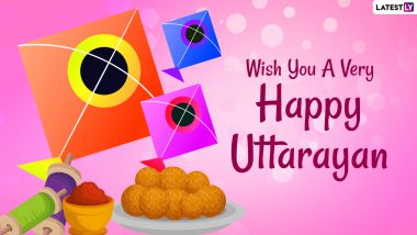 Happy Uttarayan 2021 Photos & Makar Sankranti Wishes: WhatsApp Stickers, Messages, HD Images, GIF Greetings, Quotes, Status, SMS and Pictures to Family & Friends