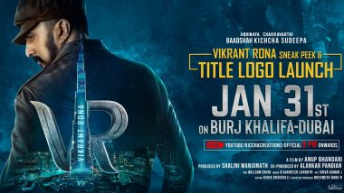 Kiccha Sudeep's Phantom Is Now Vikrant Rona! Film's Title Logo To Unveil at Burj Khalifa