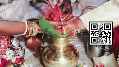 No Queue, Only QR Code! Madurai Couple Prints Digital Scan Code on Wedding Invitation for Guests to Send Gifts, Post-COVID Wedding Trends Continue