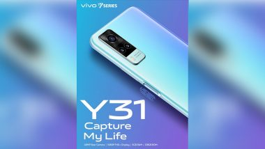 Vivo Y31 With 48MP Triple Rear Camera Setup Launched in India at Rs 16,490