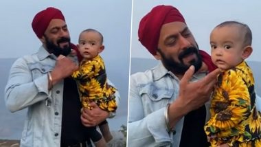 Salman Khan Tries to Grab Little Ayat's Attention While She Only Has the Eye for the Camera in This Adorable Video (Watch Clip)