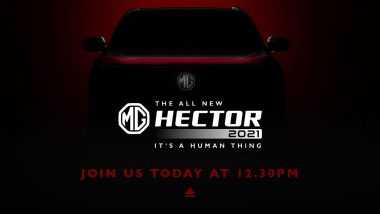 2021 MG Hector Facelift Launching Today in India; Watch LIVE Streaming of the Event Here