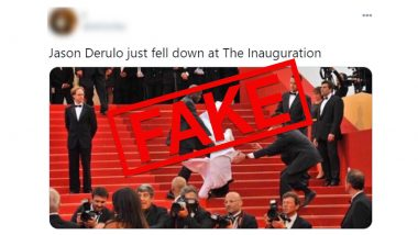Jason Derulo Falling Down the Stairs at the US Presidential Inauguration Is Fake! Know Truth Behind the Viral Meme Pic