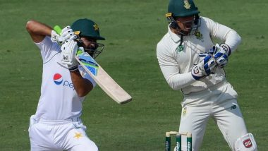 Pakistan vs South Africa 1st Test 2021 Live Streaming Online Day 3 on SonyLiv: Get PAK vs SA Cricket Match Free TV Channel and Live Telecast Details on PTV Sports