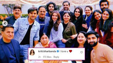 Kriti Kharbanda Comments 'I Love You' on Pulkit Samrat's New Year Family Photo on Instagram (View Post)