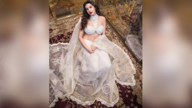 Nora Fatehi is a Vision to Behold In her Princely White Attire (View Pic)