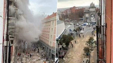 Madrid Blast: At Least 2 Dead as Huge Explosion Rocks Building in Central Madrid, Emergency Services Deployed: Reports(Watch Video)