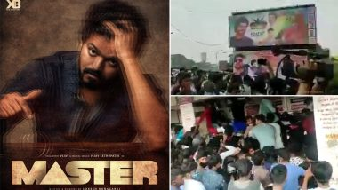 Master: Video Goes Viral Of Large Crowds Gathering Outside Rohini Theatre To Book Tickets For Thalapathy Vijay's Film And Breaking COVID-19 Safety Protocols