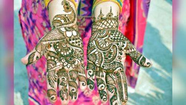 Latest Eid Al-Fitr 2021 Mehendi Designs: Easy 5-Min Arabic, Rajasthani, Full-Hand Trail, Bracelet Mehndi Patterns You Can Try for Eid