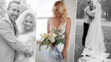 Pamela Anderson Gets Married for the Fifth Time! Baywatch Actress Ties the Knot With Bodyguard Dan Hayhurst in an Intimate Ceremony (View Pics)