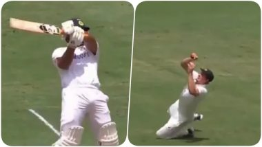 Cameron Green Takes Stunning Catch to Dismiss Rishabh Pant During IND vs AUS 4th Test 2020-21, Day 3 (Watch Video)