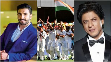 #INDvsAUS: Ranveer Singh, Shah Rukh Khan And Other Celebs Shower Congratulatory Messages On Team India's Historic Win Against Australia At The Gabba!