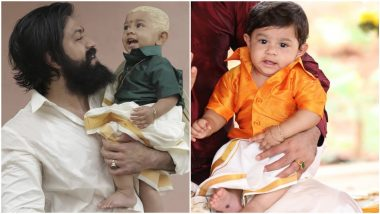Radhika Pandit Shares Yash And Yatharv's Cute Moment Post The Mundan Ceremony! Checkout 7 Adorable Photos Of The Baby Boy That Went Viral Earlier