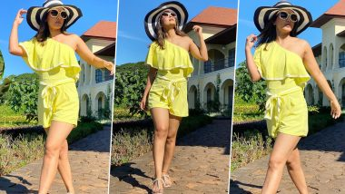 Hina Khan Looks Like a Ray of Sunshine in her Yellow Co-ord Set (View Pics)