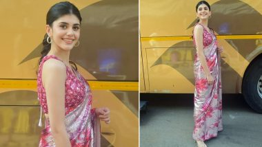 Sanjana Sanghi Packs a Floral Punch With Her Sequined Saree (View Pics)
