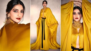 Sonam Kapoor Shining Like a 'Solid Gold' in This Stephane Rolland Dress (View Pics)