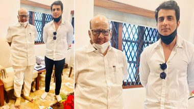 Sonu Sood Meets Sharad Pawar After BMC Issues Notice to the Actor for Illegal Construction at His Residence