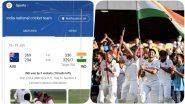 Google Celebrates Team India's Historic Series Win Over Australia, 'India National Cricket Team' Search Leads Users to Virtual Tri-Colour Fireworks
