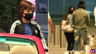 Shah Rukh Khan, AbRam Spotted At Mumbai Airport To See Off Suhana! SRK Avoids Posing For Paparazzi To Keep His Look For Pathan Shielded? (View Pics)
