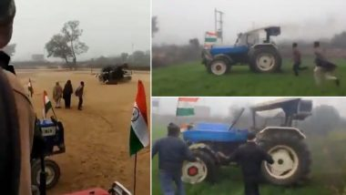 Video of Driverless Tractor Running in Fields After Wheelie Goes Wrong Is Going Viral! Tesla Has Already Got Competition in India, Netizens Warn Elon Musk