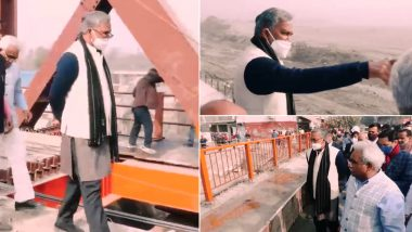 Kumbh Mela 2021: Uttarakhand CM Trivendra Singh Rawat Inspects Arrangements For The Holy Event, Visits Construction Site of Lal Tappad Flyover (Watch Video)