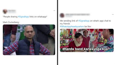 #SignalApp Funny Memes and Jokes Rule Online As Internet Erupts With Hilarious Reactions on WhatsApp Privacy Policy and Likely Shift to Signal and Telegram!