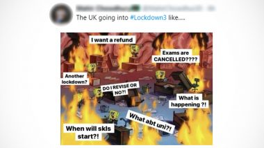 Lockdown 3 in UK Sparks Funny Memes and Jokes, 'Not Again!' Students Flood Twitter With Hilarious Reactions After Schools Remain Shut, Exams Get Cancelled