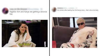 Kim Kardashian and Kanye West to Go Separate Ways Has Sparked Funny Memes and Jokes! Hilarious Reactions on the Couple's Reported Divorce Are Mean but Will Make You LOL Hard