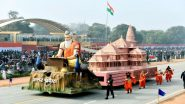 Uttar Pradesh Tableau Displaying Ram Temple Replica Bags First Prize in Republic Day 2021 Parade, Tripura and Uttarakhand Follow