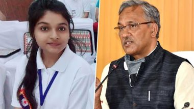Srishti Goswami, Haridwar Teen, Set To Become One-Day Chief Minister of Uttarakhand on January 24 To Mark National Girl Child Day 2021