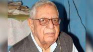 Krishan Dev Sethi Dies at 93, Omar Abdullah Condoles Death of the Last Surviving Member of Jammu and Kashmir Constituent Assembly